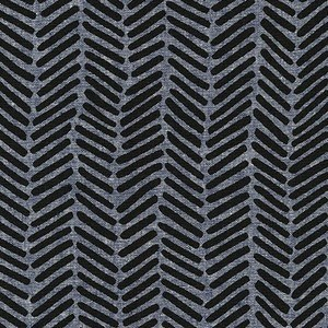 Chevron Brush Essex in Denim