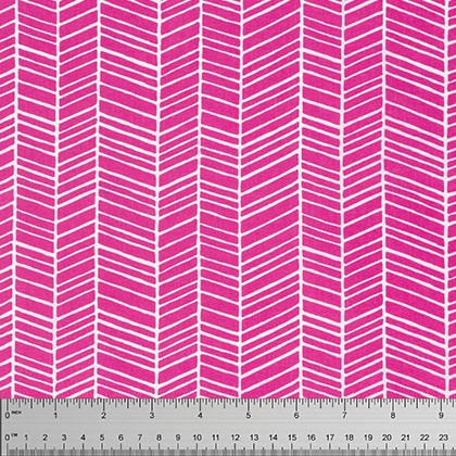 Herringbone in Fuchsia