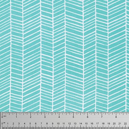 Herringbone in Aqua