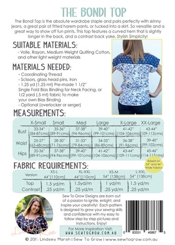 The Bondi Top by Sew to Grow