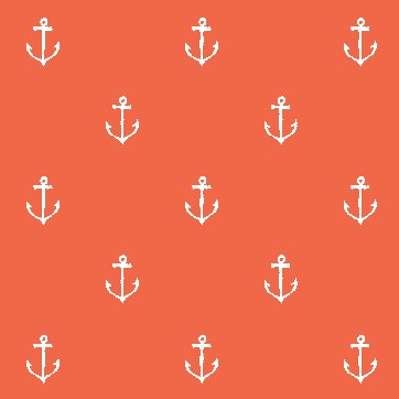 Anchors Away in Coral