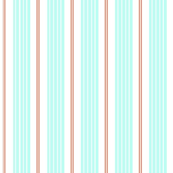 Racer Stripes in Seafoam