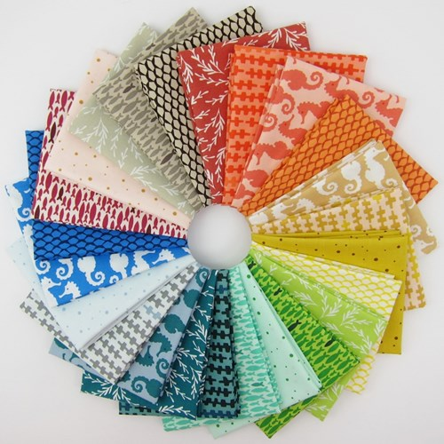 Reef Fat Quarter Bundle by Elizabeth Hartman
