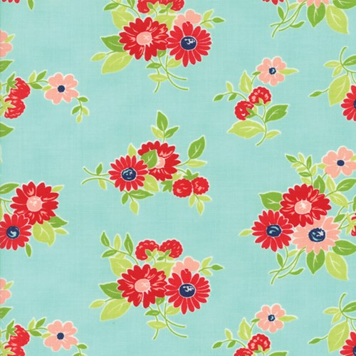 Little Florals in Aqua