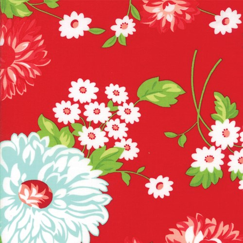 Large Floral in Red