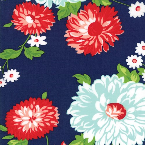 Large Floral in Navy