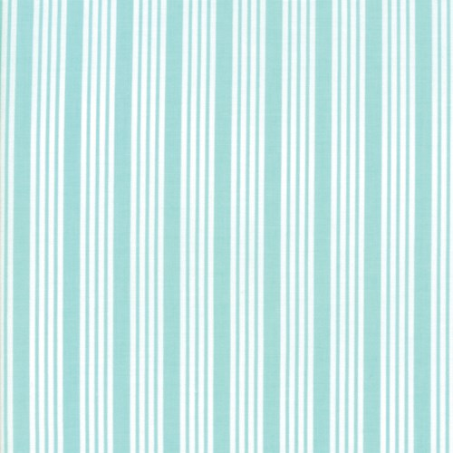 Striped in Aqua