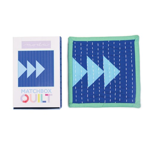 Matchbox Quilt Kit in Blue