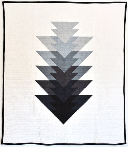 Arrowhead Throw Size Quilt Kit in Grey - Initial K Studio