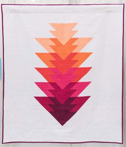 Arrowhead Throw Size Quilt Kit in Berry - Initial K Studio