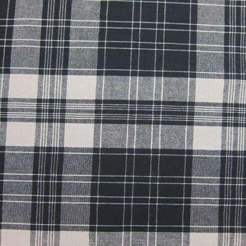 Yarn-Dye Large Check in Black