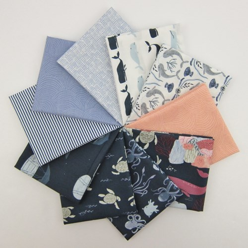 Dear Stella Into the Reef with Coordinating Basics Fat Quarter Bundle