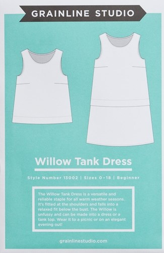 Willow Tank and Dress Pattern by Grainline Studio