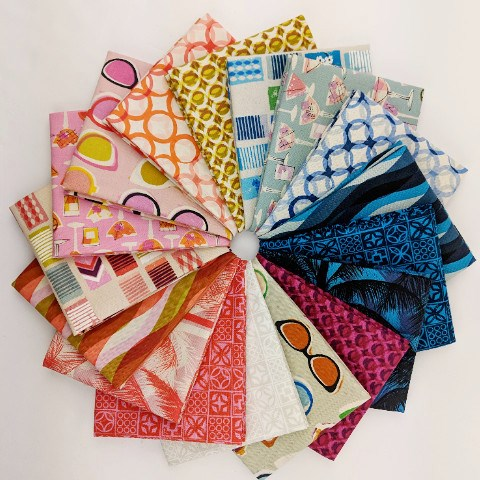 Poolside COTTON Fat Quarter Bundle by Alexia Abegg and Melody Miller