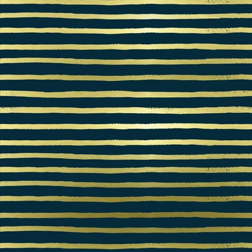 Stripes in Navy Metallic