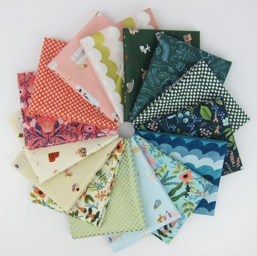 Amalfi COTTON Fat Quarter Bundle by Rifle Paper Co.
