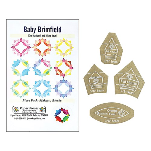 Baby Brimfield Block Acrylic and Paper Piece Pack
