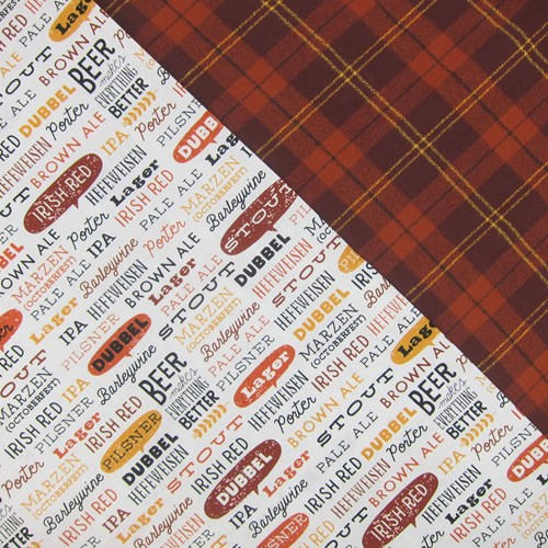 Whole Cloth Quilt Kit - Beer Words and Mammoth Flannel