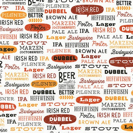 Beer Words in White