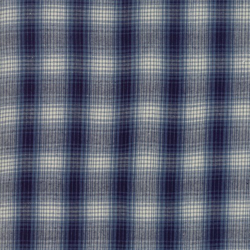 Boro Plaid in Indigo
