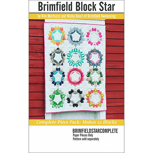 Brimfield Block Star 12 Block Paper Piece Pack