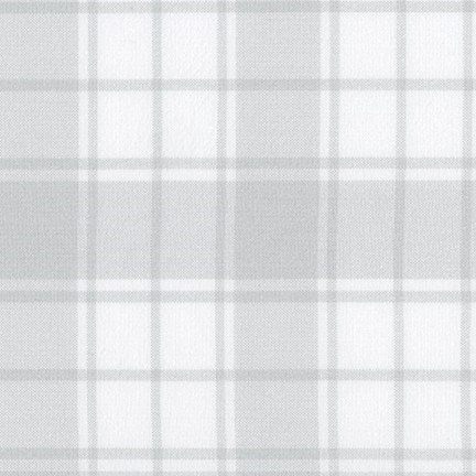 Brooklyn Plaid Flannel in Silver