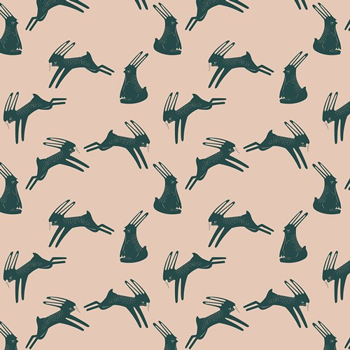 Hopping Hare in Blush