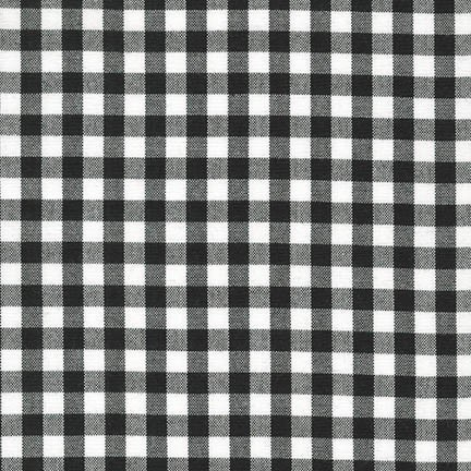 "Carolina Gingham 1/4"" - Black"