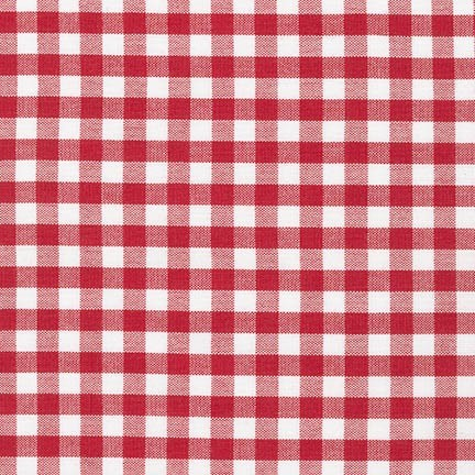 "Carolina Gingham 1/4"" - Crimson"