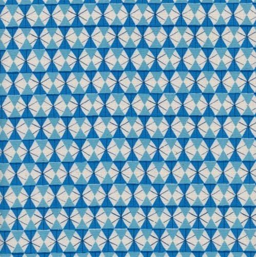 Chicken Wire in Bright Blue UNBLEACHED COTTON