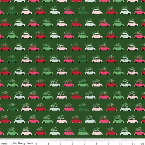 Christmas Cars in Green