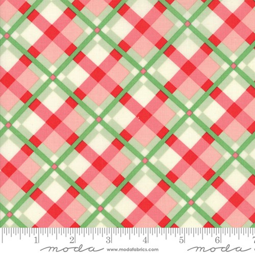 Christmas Plaid in Green Red