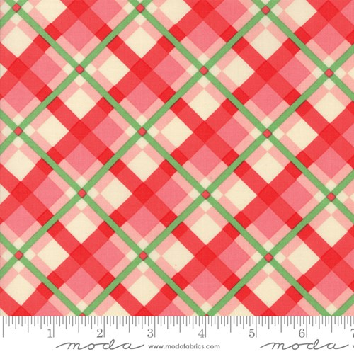Christmas Plaid in Pink Red