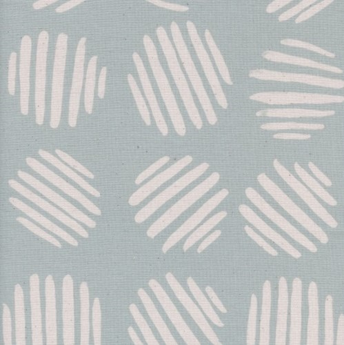 Coin Dots in Baby Powder UNBLEACHED COTTON