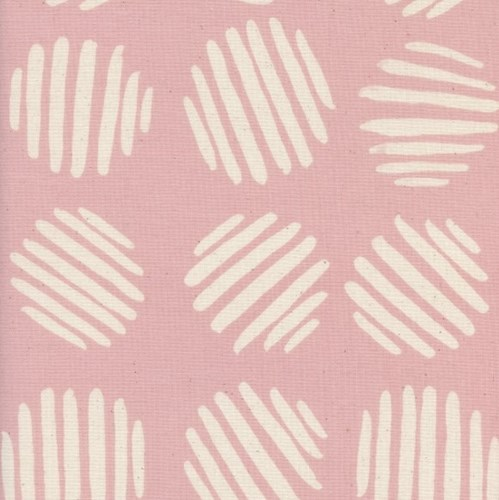 Coin Dots in Cotton Candy UNBLEACHED COTTON