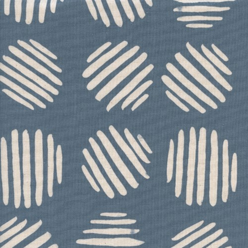Coin Dots in Dolphin UNBLEACHED COTTON