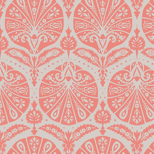Coquille Damask in Coral