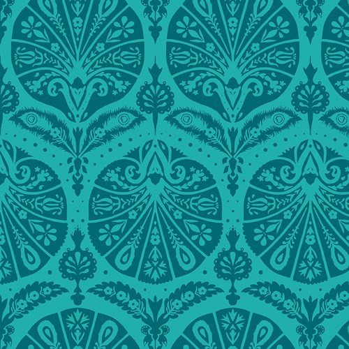 Coquille Damask in Teal