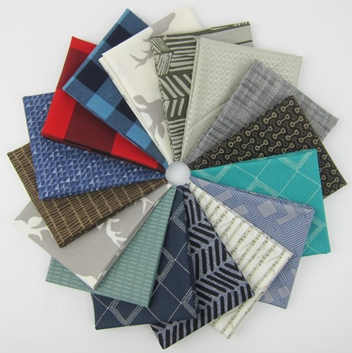 Design Star Finalist Man Quilt Fat Quarter Bundle curated by Karen Diedrich, @quiltynursekaren