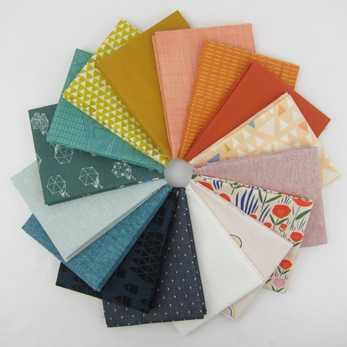 Design Star April 2018 Fat Quarter Bundle Curated by Suzy Williams of Suzy Quilts