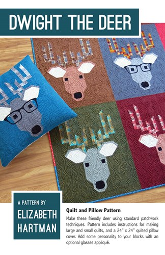 Dwight the Deer Quilt and Pillow Pattern by Elizabeth Hartman