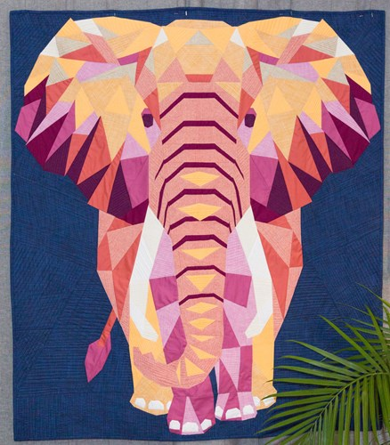Elephant Abstractions Quilt Top Kit in Fall Textures