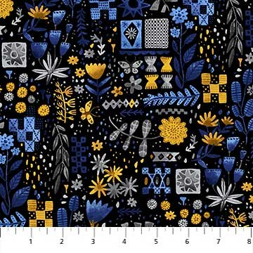 Flowerbed in Dark Yellow