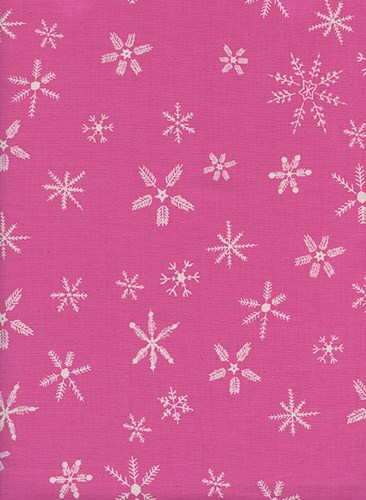 Flurry in Pink UNBLEACHED QUILTING COTTON