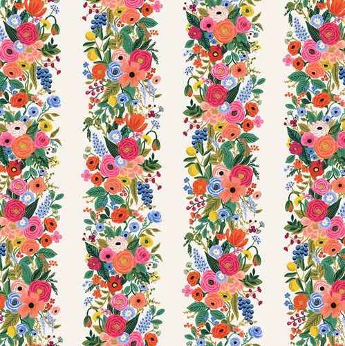Garden Party Vines in Pink Rayon