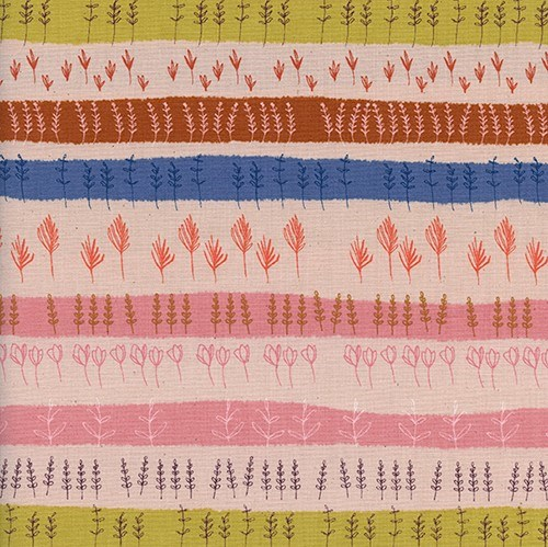 Herb Garden in Peach UNBLEACHED QUILTING COTTON