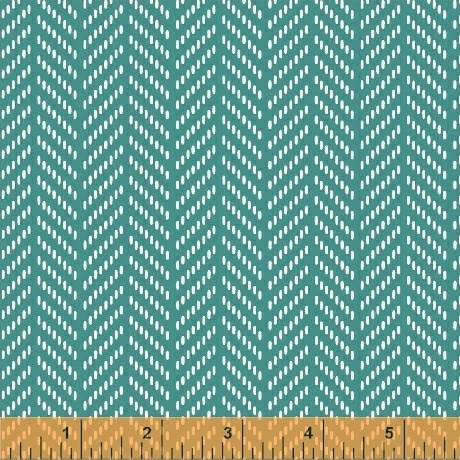 Herringbone in Teal