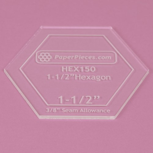 Hexagon Acrylic Template 1-1/2""