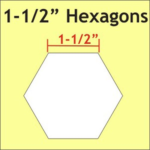 Hexagon Paper Pieces 1-1/2""