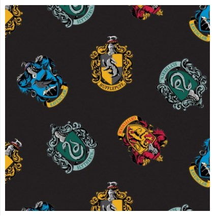 Hogwarts Houses in Black FLEECE